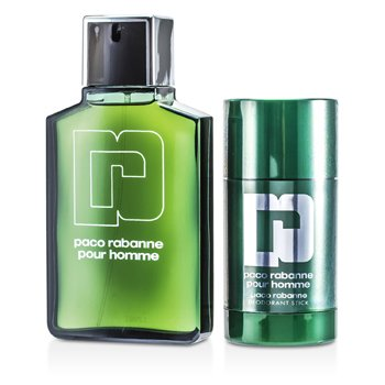 Pour Homme Estuche: Eau De Toilette Spray 100ml/3.3oz + Desodorante en Barra 75ml/2.2oz  2pcs