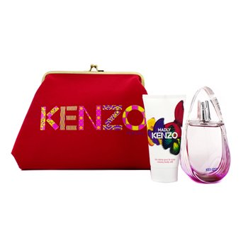 Kenzo Madly Coffret: Eau De Toilette Spray 50ml/1.7oz + Creamy Body Milk 50ml/1.7oz + Pouch  2pcs+1pouch