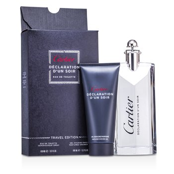 Cartier Declaration d'un Soir Coffret: Eau De Toilette Spray 100ml/3.3oz + Gel de Ducha 100ml/3.3oz  2 piezas