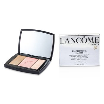 Lancome Blush Subtil Palette (3x Colours Powder Blusher) - # 01 Rose Flush  4.5g/0.158oz