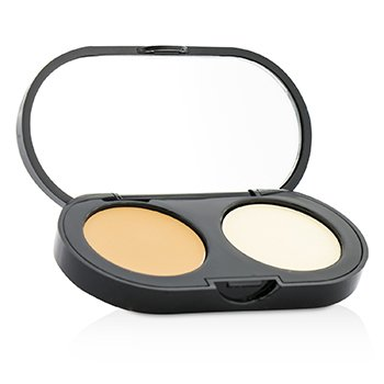 Bobbi Brown New Creamy Concealer Kit - Natural Tan Creamy Concealer + Pale Yellow Sheer Finish Pressed Powder  3.1g/0.11oz