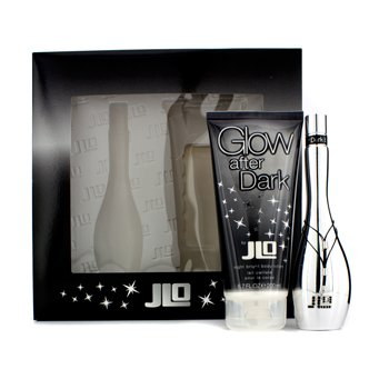 J. Lo Kit Glow After Dark: Eau De Toilette Spray 50ml/1.7oz + Loção corporal  Night Bright 200ml/6.7oz  2pcs