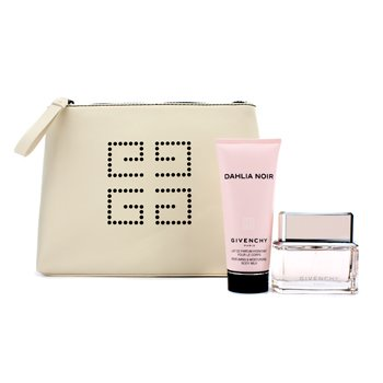 Givenchy Dahlia Noir Coffret: Eau De Toilette Spray 50ml/1.7oz + Body Milk 100ml/3.3oz + Pouch  2pcs+1pouch