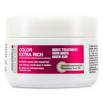 Goldwell Dual Senses Color Extra Rich 60 Sec Treatment (For Thick to Coarse Color-Treated Hair)  200ml/6.7oz