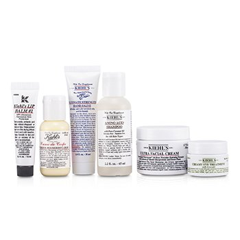 On Top Of The World Set: Shampoo + Cream + Nourishing Cream + Hand Salve + Lip Balm + Eye Treatment + Bag  6pcs+1bag