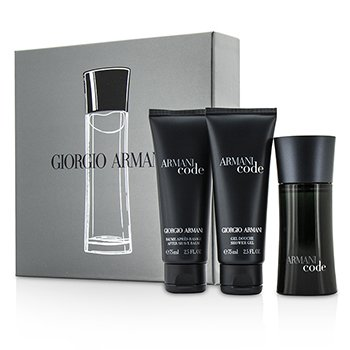 Giorgio Armani Armani Code Coffret: Eau De Toilette Spray 50ml/1.7oz + After Shave Balm 75ml/2.5oz + Shower Gel 75ml/2.5oz  3pcs