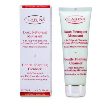Clarins Gentle Foaming Cleanser with Tamarind & Purifying Micro Pearls (Combination/ Oily Skin)  125ml/4.4oz