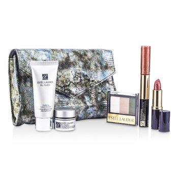 Re-Nutriv Travel Set: Cleanser 30ml + Creme 7ml + 3-Colors EyeShadow + Lipstick #41 + Lip Gloss #25 & Mascara + Bag 5pcs+1bag