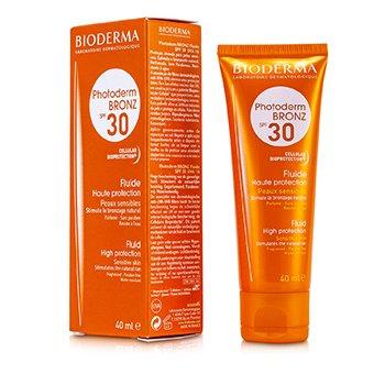Bioderma ضدآفتاب مایع و برنزه کننده Photoderm با SPF30 (مناسب پوست حساس)  40ml/1.33oz
