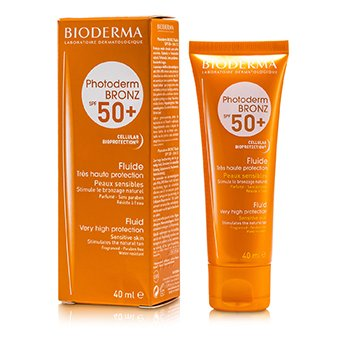 Bioderma Photoderm Bronz Very High Protection Fluid SPF50+ (For Sensitive Skin)  40ml/1.33oz