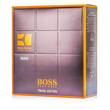 Hugo Boss Boss Orange Man Coffret: Eau De Toilette Spray 100ml/3.3oz + Bálsamo Para Después de Afeitar 50ml/1.6oz + Gel de Ducha 50ml/1.6oz  3pcs