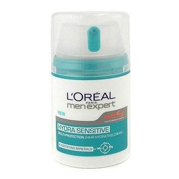 L'Oreal Creme hidratante Men Expert Hydra Sensitive Multi-Protection 24 HR   50ml/1.6oz