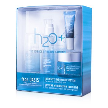 Face Oasis Intensive Hydration System: Hydrating Treatment  + Oasis Mist + Hydrating Booster + Eye Moisture Replenishing Treatment (For Normal/ Oily Skin)  4pcs