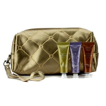 Clarins Soft Cream Eye Color Set: #03 Sage, #05 Lilac, #08 Burnt Orange (With Golden Cosmetic Pouch)  3pcs+1bag