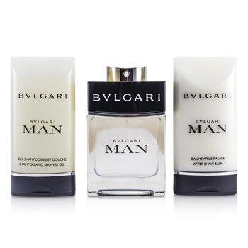 Man Coffret:Eau De Toilette Spray 60ml/2oz + B�lsamo Para Despu�s de Afeitar 75ml/2.5oz + Champ� & Gel de Ducha 75ml/2.5oz  3pcs