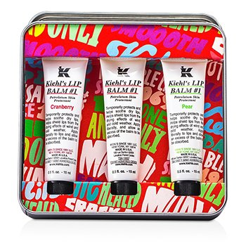 Kiehl's Lip Balm #1 Trio: Lip Balm #1 Cranberry 15ml/0.5oz + Lip Balm #1 15ml/0.5oz + Lip Balm #1 Pear 15ml/0.5oz  3x15ml/0.5oz