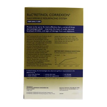 Retinol Correxion Max Wrinkle Resurfacing System: Anti-Wrinkle Treatment 30ml + Resurfacing Serum 30ml  2pcs