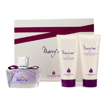 Lanvin Marry Me Coffret: Eau De Parfum Spray 75ml/2.5oz + Loci�n Corporal 100ml/3.3oz + Gel de Ducha 100ml/3.3oz  3pcs