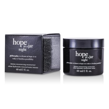 פילוסופי Hope In a Jar Night Intense Retexturizing Moisturizer קרם לחות אינטנסיבי ללילה  60ml/2oz