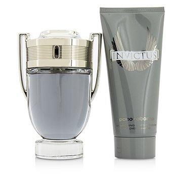 Invictus Coffret: Eau De Toilette Spray 100ml/3.4oz + All Over Shampoo 100ml/3.4oz  2pcs