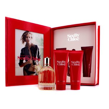 Chloe See By Chloe Coffret: Eau De Parfum Spray 75ml/2.5oz + Body Lotion 75ml/2.5oz + Shower Gel 75ml/2.5oz  3pcs