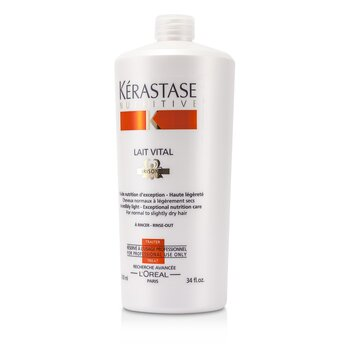 Nutritive Lait Vital Incredibly Light - Exceptional Nutrition Care (For Normal to Slightly Dry Hair)  1000ml/34oz