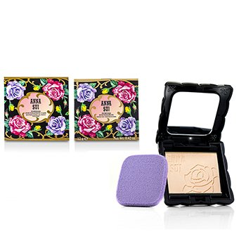 Anna Sui Powder Foundation SPF 20 (Case & Refill) - # 201  12g/0.42oz