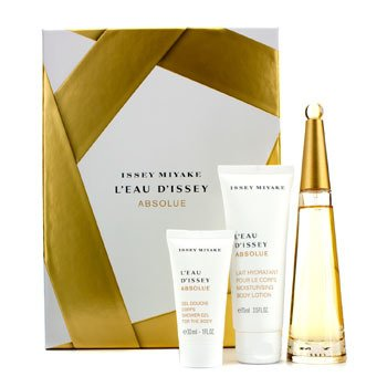 Issey Miyake L'Eau D'Issey Absolue Coffret: Eau De Parfum Spray 50ml/1.6oz + Loción Corporal 75ml/2.5oz + Gel de Ducha 30ml/1oz  3pcs