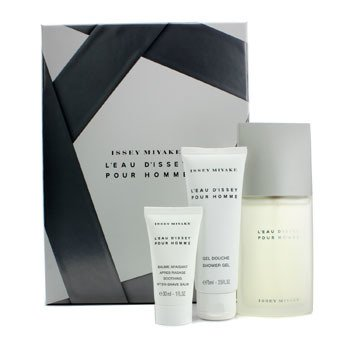 Issey Miyake Coffret: Eau De Toilette Spray 75ml/2.5oz + Gel de Ducha 75ml/2.5oz + B�lsamo Para Despu�s de Afeitar 30ml/1oz  3pcs