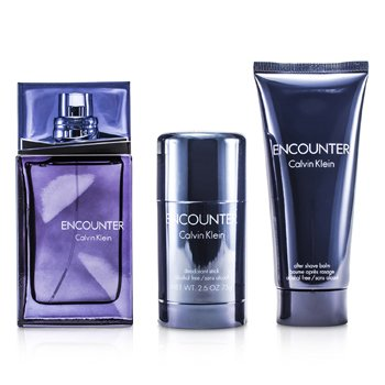 Encounter Coffret: Eau De Toilette Spray 100ml/3.4oz+ After Shave Balm 100ml/3.4oz + Deodorant Stick 75ml/2.6oz  3pcs