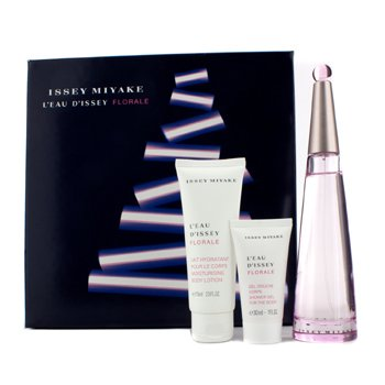 Issey Miyake L'Eau D'Issey Florale Coffret: Eau De Toilette Spray 90ml/3oz + Body Lotion 75ml/2.5oz + Shower Gel 30ml/1oz  3pcs
