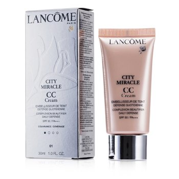 Lancome City Miracle Crema CC SPF 50 - 01 Beige Dragee  30ml/1oz