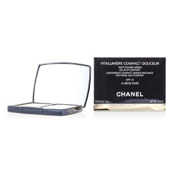 Chanel Vitalumiere Compact Douceur Lightweight Compact Makeup SPF 10 - # 22 Beige Rose  13g/0.45oz