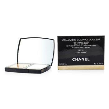 Chanel Vitalumiere Compact Douceur Lightweight Compact Makeup SPF 10 - # 32 Beige Rose  13g/0.45oz