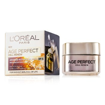 L'Oreal Creme Diurno Age Perfect Cell Renew Advanced Restoring SPF 15  50ml/1.7oz