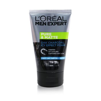 L'Oreal Men Expert Pure & Matte Icy Effect szén fekete hab  100ml/3.4oz