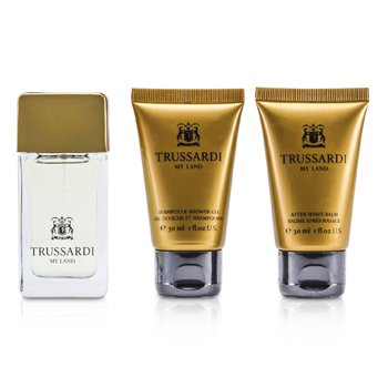 My Land Coffret: Eau De Toilette Spray 30ml/1oz + Shower Gel 30ml/1oz + After Shave Balm 30ml/1oz  3pcs