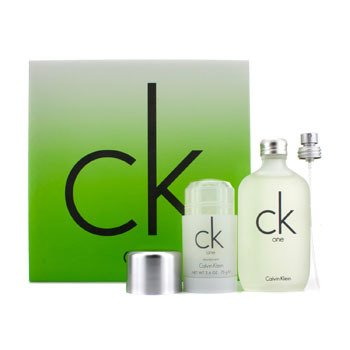 Calvin Klein CK One Coffret: Eau De Toilette Spray 100ml/3.4oz + Stik Deodoran 75g/2.6oz  2pcs