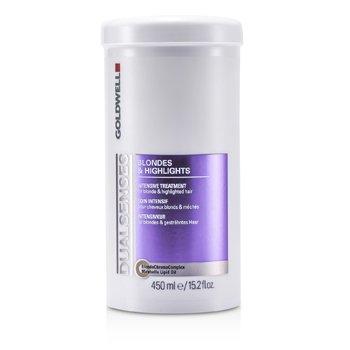 Goldwell Dual Senses Blondes & Highlights Tratamiento Intensivo - Para Cabello Rubio e Iluminado (Producto de Salón)  450ml/15.2oz