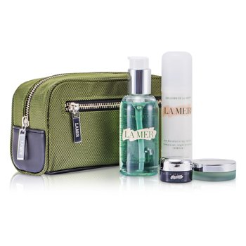 Essentials Set: Cleansing Gel 100ml + Moisturizing Lotion 50ml + Eye Concentrate 5ml + Lip Balm 9g + Bag 4pcs+1bag