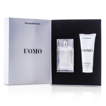 Ermenegildo Zegna Uomo Coffret: Eau De Toilette Spray 50ml/1.7oz + Hair & Body Wash 100ml/3.4oz  2pcs