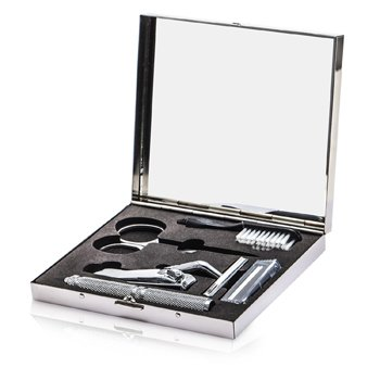 The Well Mannered Groom Kit: Razor + Grooming Scissors + Nail Clipper + Brush + Box 4pcs+1box