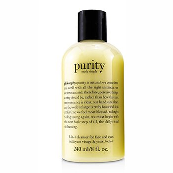 Purity Made Simple - 3-in-1 cleanser for face and eyes  240ml/8oz