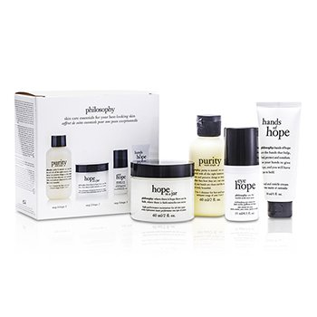 Philosophy Hope for the Best Coffret: Limpiador 60ml/2oz + Hidratante 60ml/2oz + Crema de Ojos 15ml/0.5oz + Crema de Manos30ml/1oz  4pcs