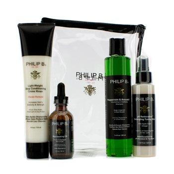 Philip B 4 Βημάτων Θεραπεία Για Μαλλιά και Κεφαλή Σετ - Κλασσική Φόρμουλα (Για Όλους Τους Τύπους Μαλλιών)  4pcs