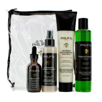 Four Step Hair & Scalp Treatment Set - Paraben Free (For All Hair Types)  4pcs