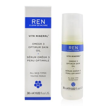 Vita Mineral Omega 3 Optimum Skin Serum Oil (P/ pele seca, sensível e madura)  30ml/1.02oz