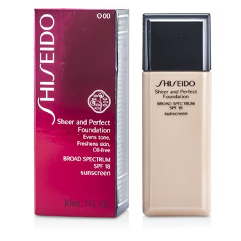 Shiseido Sheer & Perfect Foundation SPF 18 - # O00 Very Light Ochre  30ml/1oz