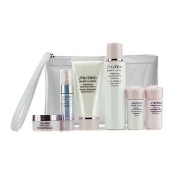 White Lucent Set: Cleansing Foam 50ml + Softener 75ml + Serum 9ml + Emulsion 15ml + Emulsion SPF 15 15ml + Cream 18ml + Bag  6pcs+Bag