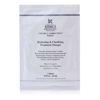 Clearly Corrective White Hydrating & Clarifying Treatment Masque (6 Sheets)  6x25ml/0.85oz